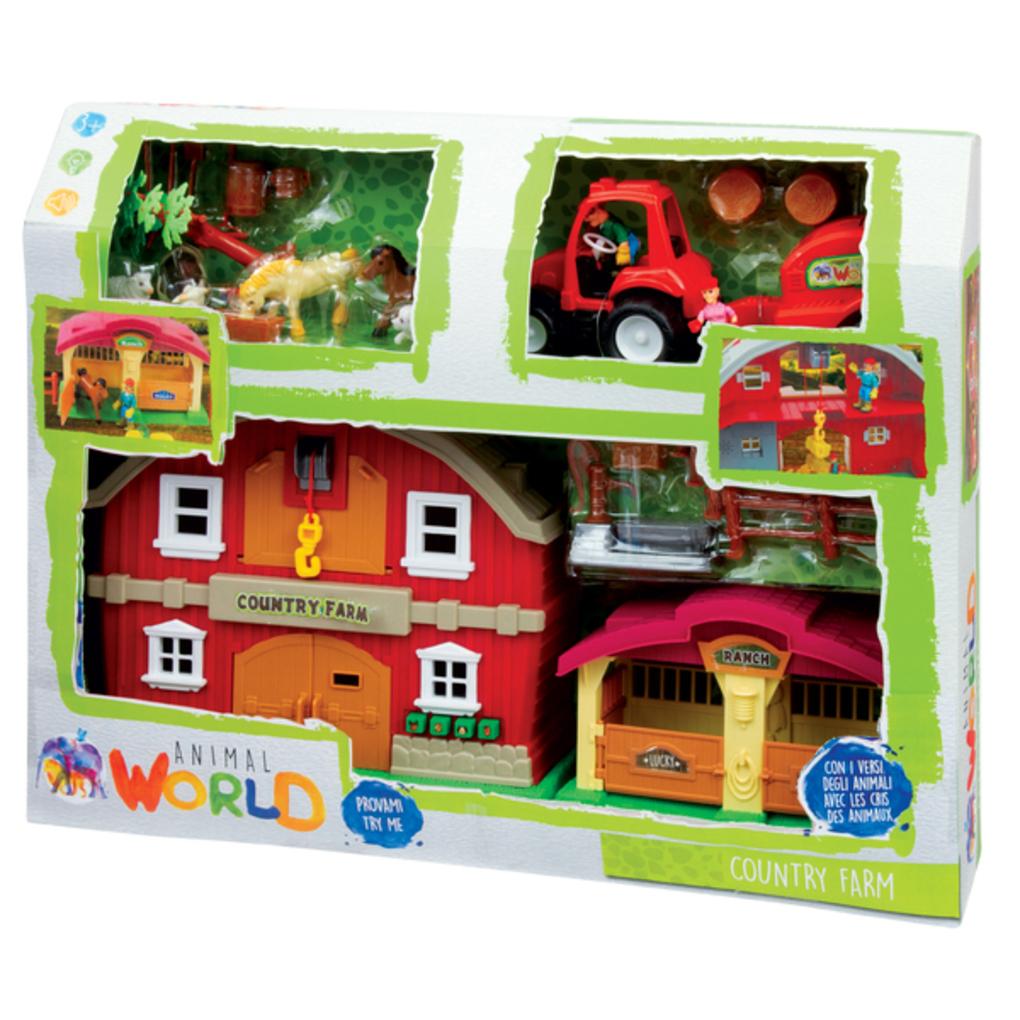 Animal world - mega set fattoria - Animal World