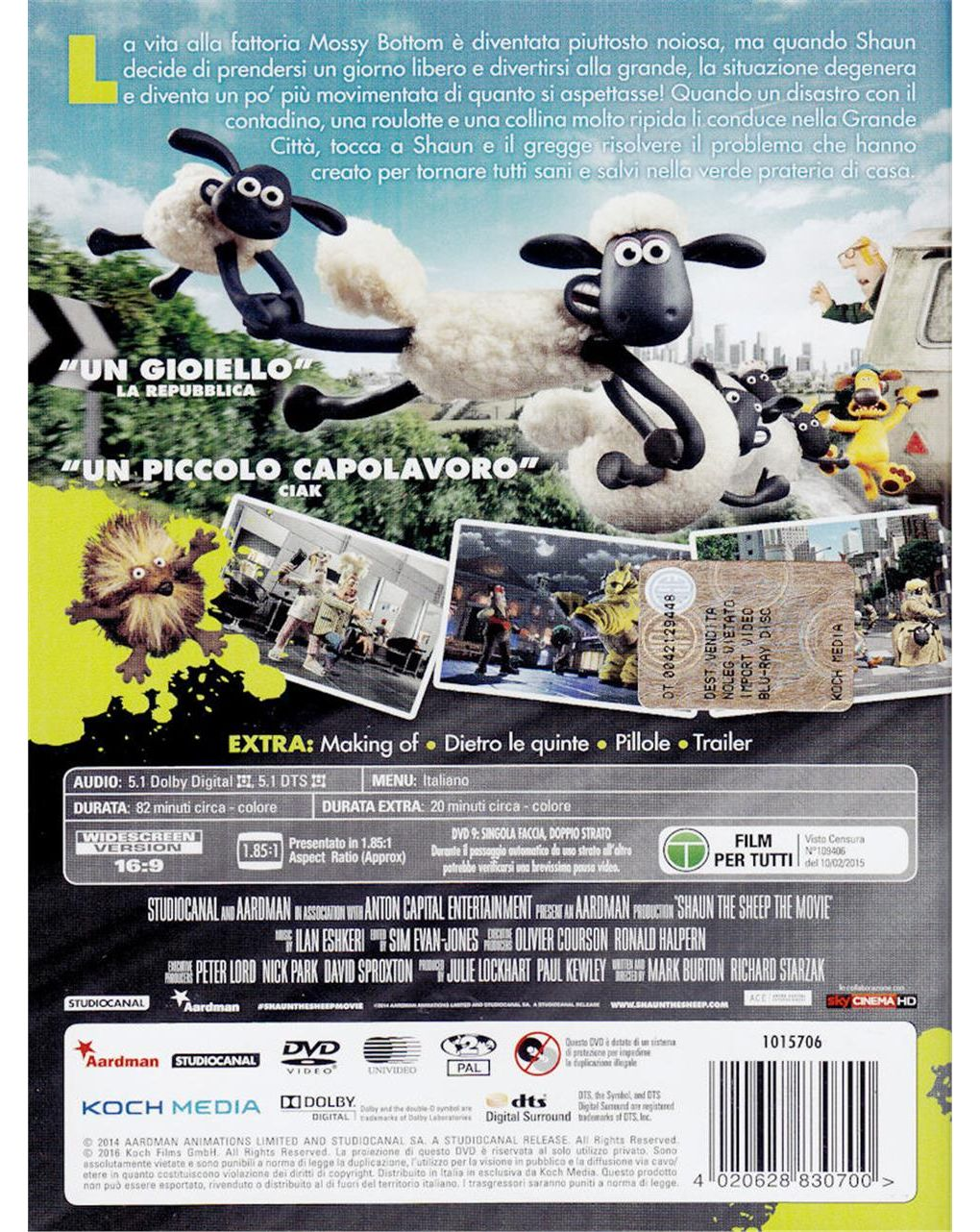 Dvd shaun, vita da pecora - il film - Video Delta