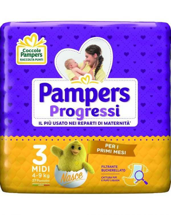 Pampers - Pannolini Progressi tg. 3 (27 pz) - Pampers