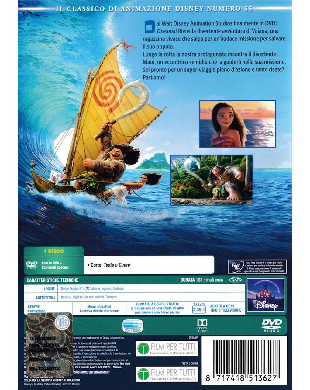 Dvd oceania - Disney