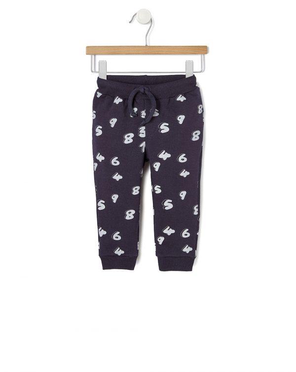 Pantalone basico con stampa allover - Prénatal