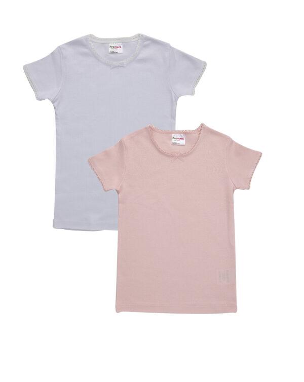 Pack 2 T-shirt con bordo croquette - Prénatal