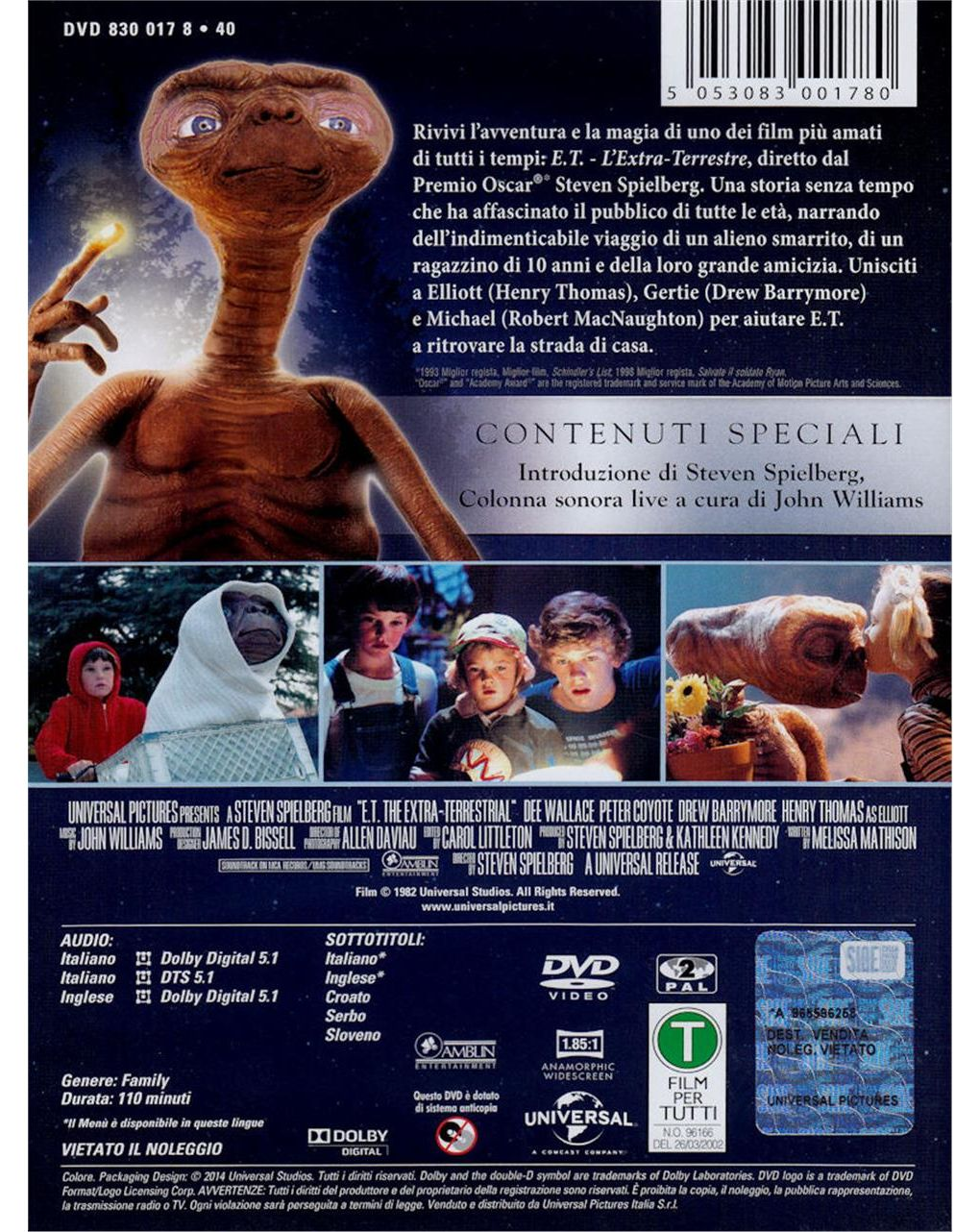 Dvd e.t. l'extra-terrestre - Video Delta