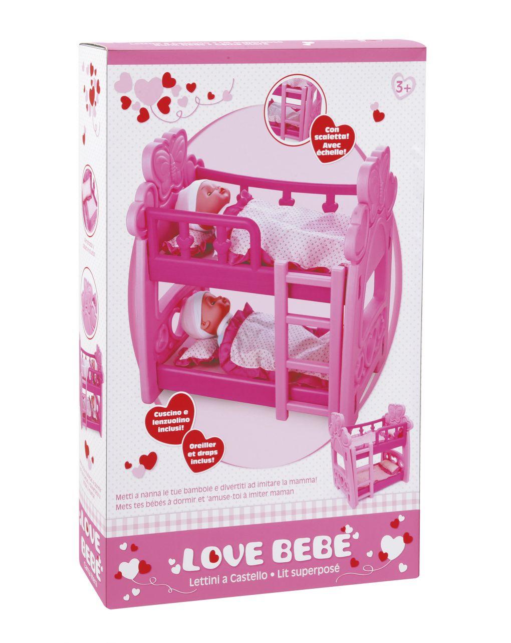 Love bebe' - lettino a castello - Love Bebè