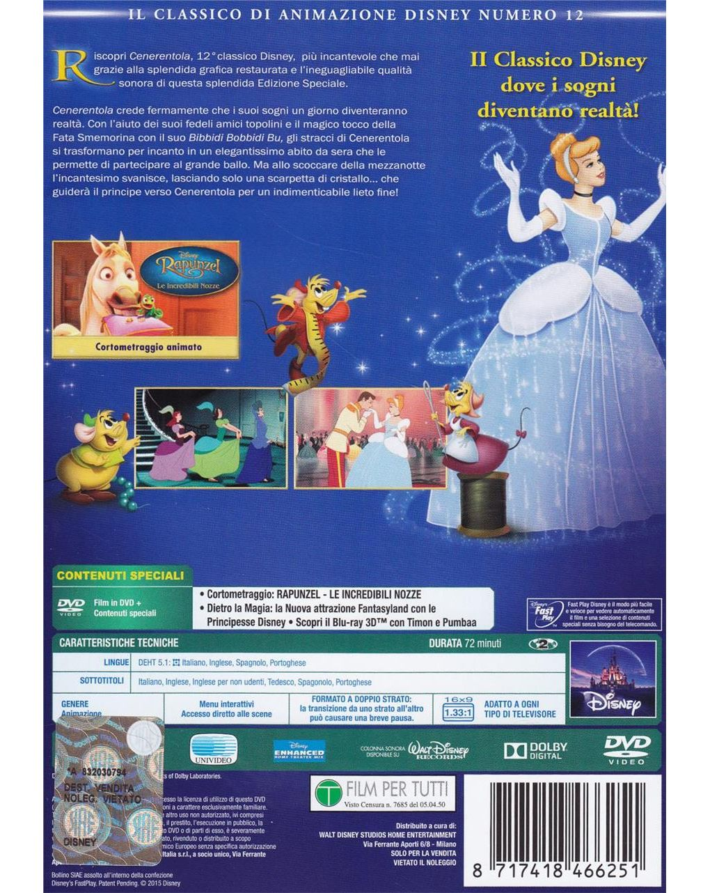 Dvd cenerentola - Disney