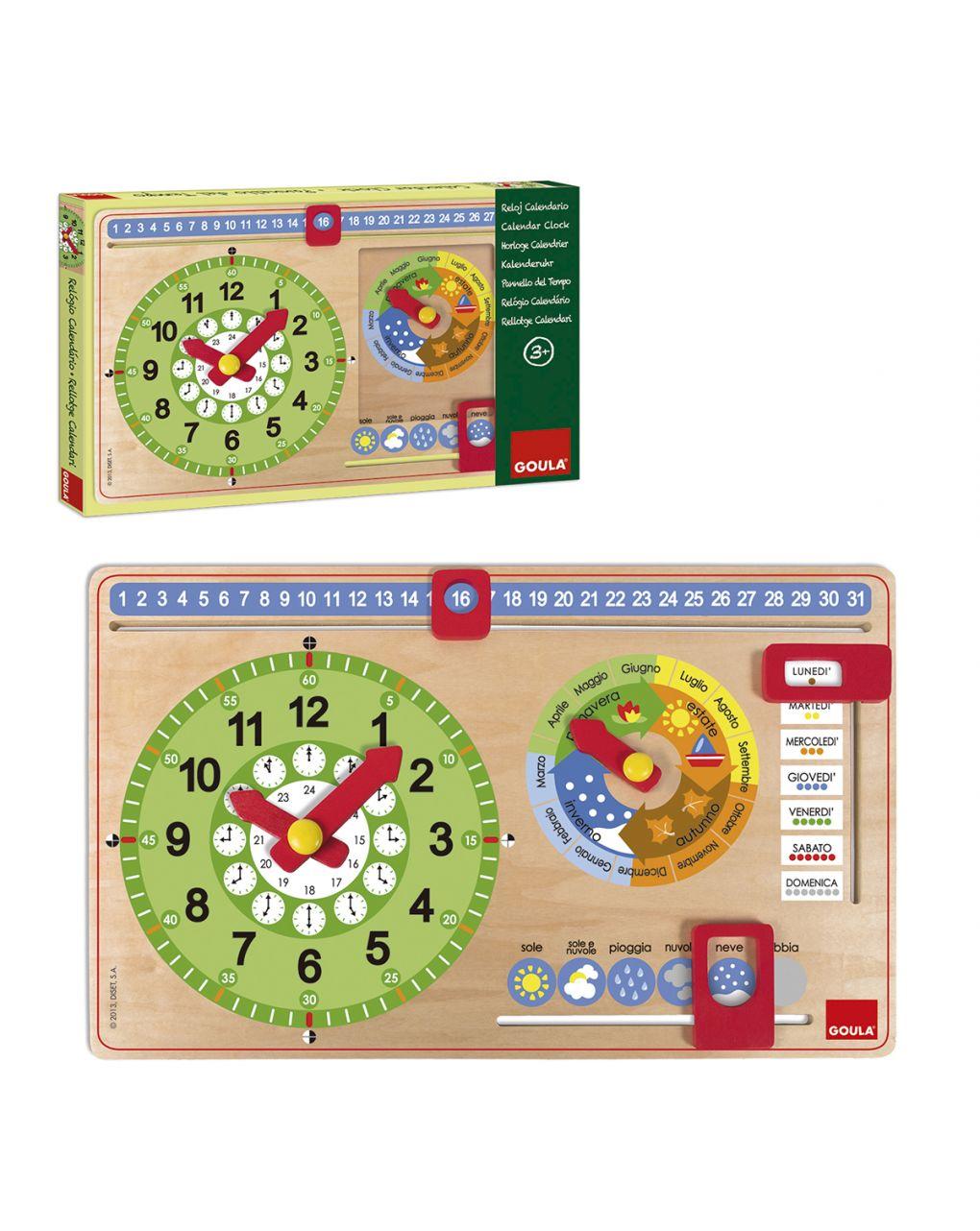 Goula - orologio calendario italiano piccolo - Goula