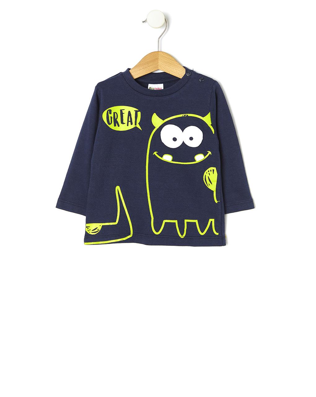 T-shirt con stampa mostro - Prénatal