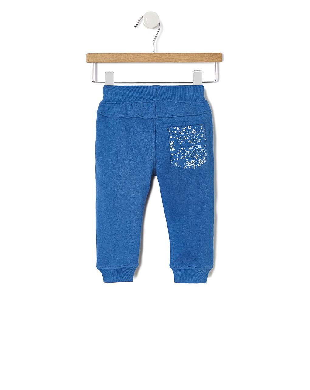 Pantalone felpa con inserti in tessuto - Prénatal