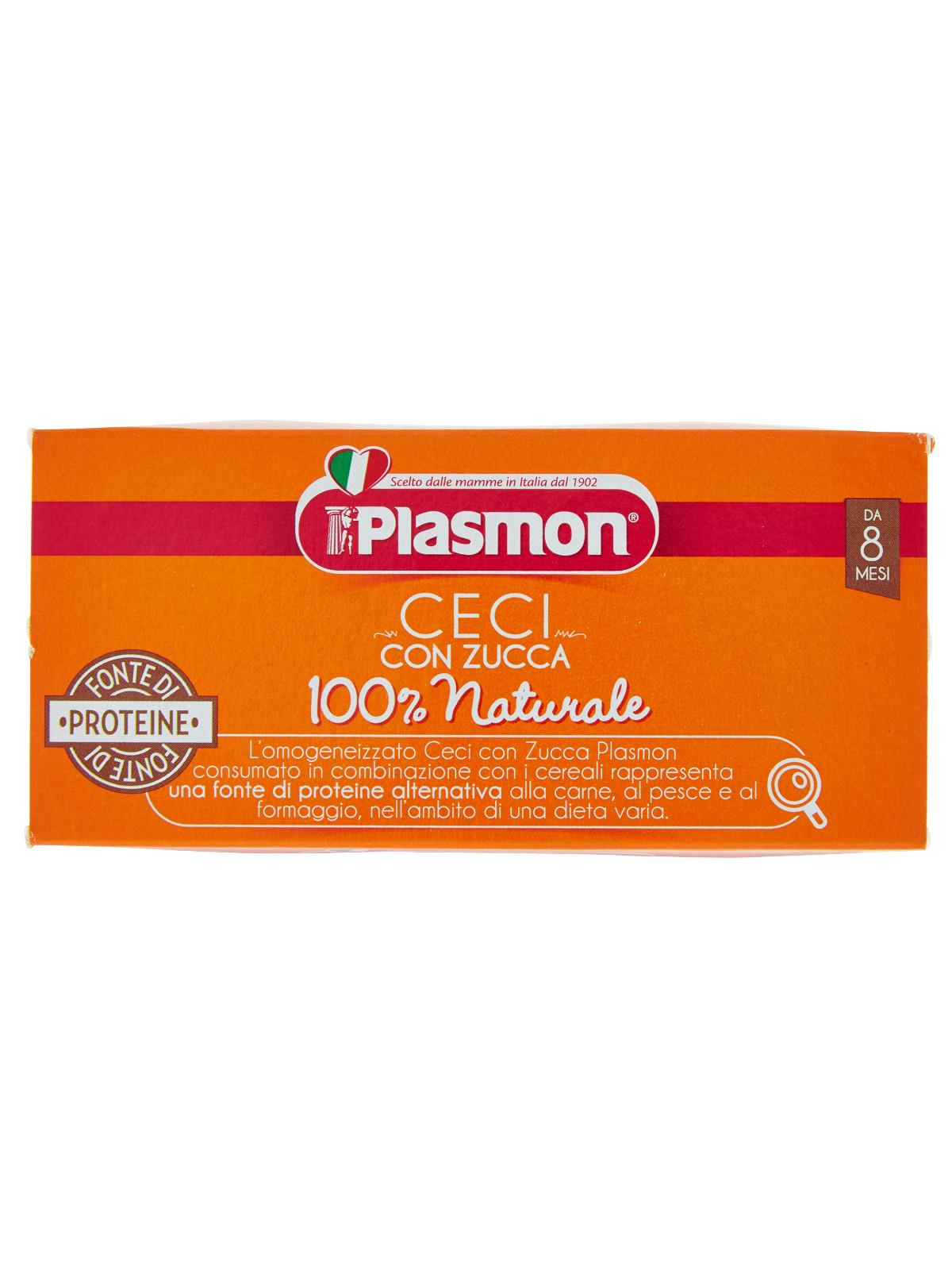Plasmon - omogeneizzato ceci e zucca - 2x80g - Plasmon