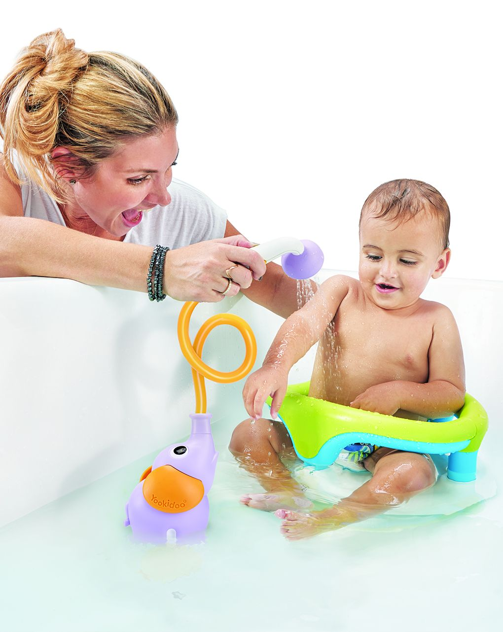 Yookidoo - elephant baby shower - purple - Yookidoo