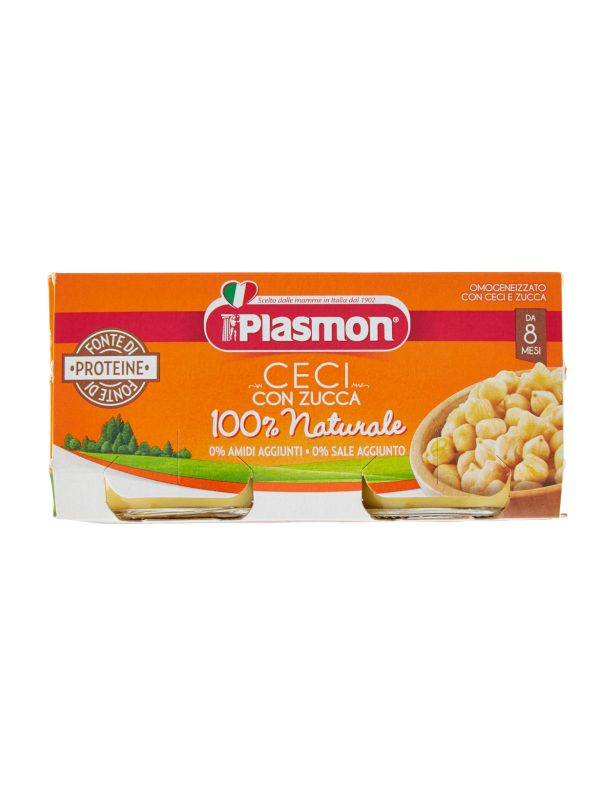 Plasmon - Omogeneizzato Ceci e Zucca - 2x80g