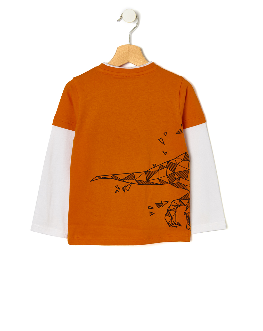 T-shirt doppiata con stampa dinosauro - Prénatal
