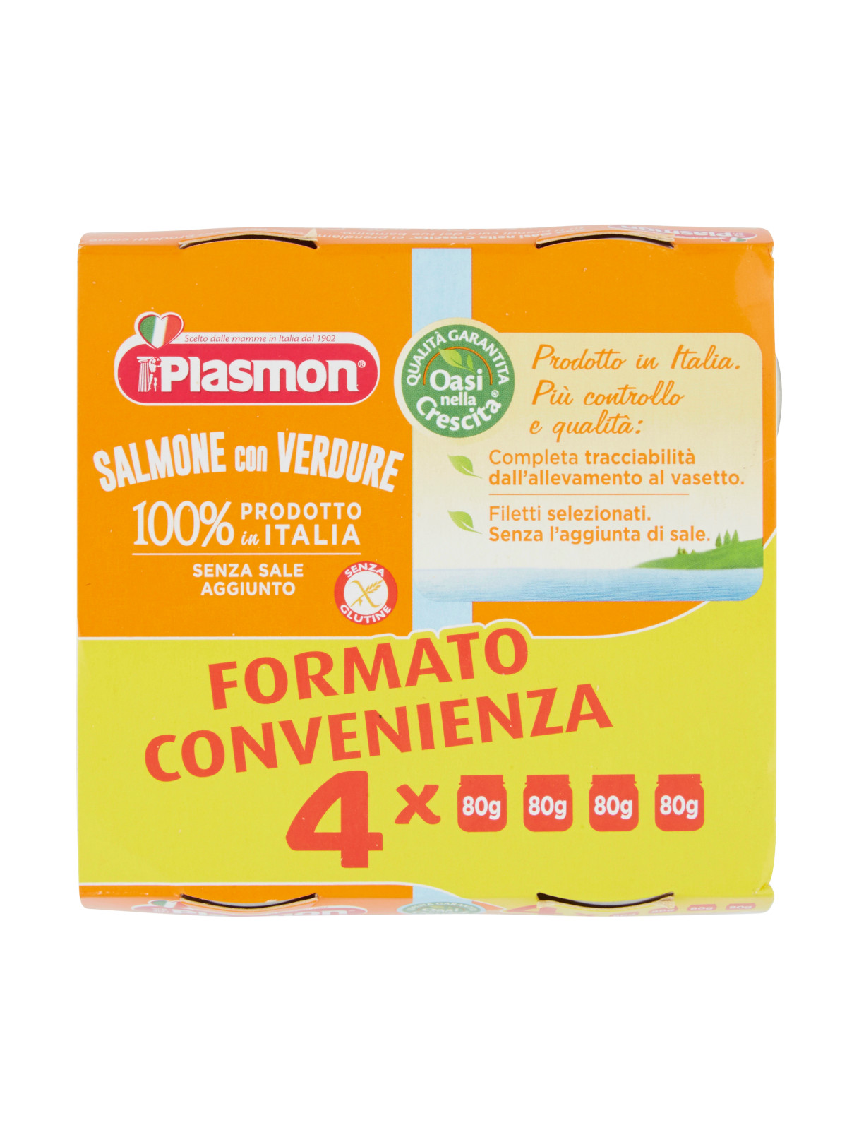 Plasmon - omogeneizzato salmone - 4x80g - Plasmon