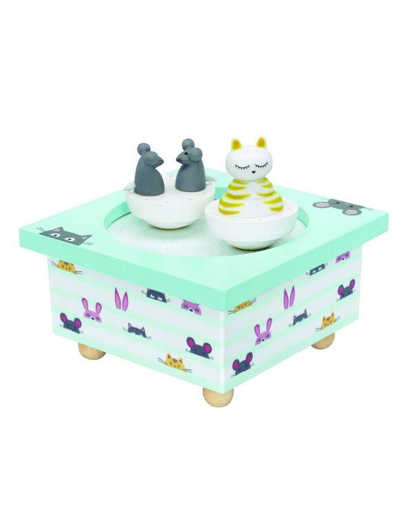 TROUSSELIER - DANCING MUSIC BOX CAT & MOUSE - Trousselier