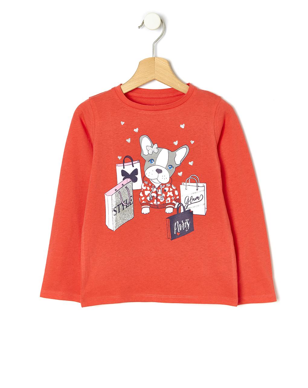 T-shirt con stampa cagnolino - Prénatal