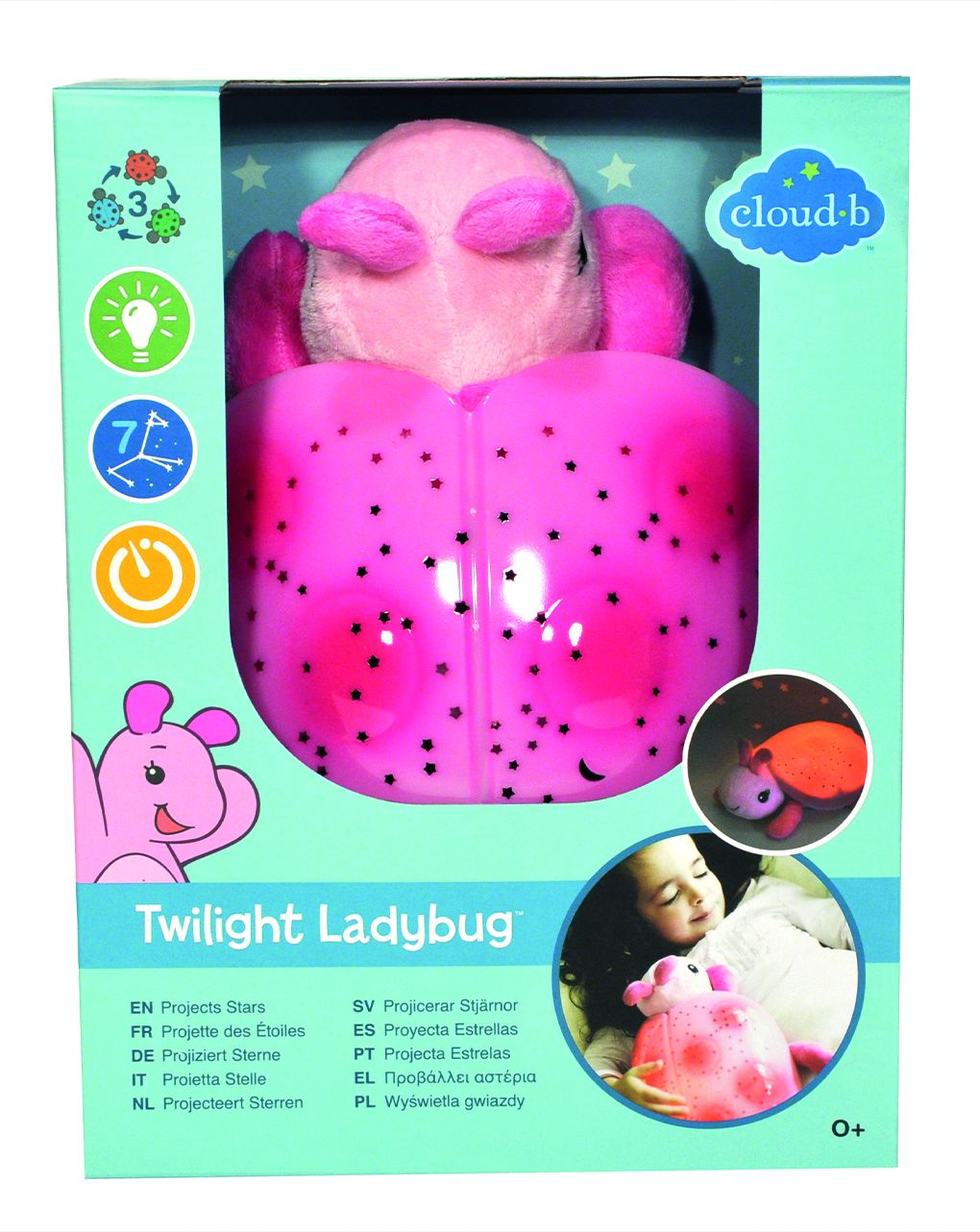 Cloud b - twilight ladybug - pink - Cloud B