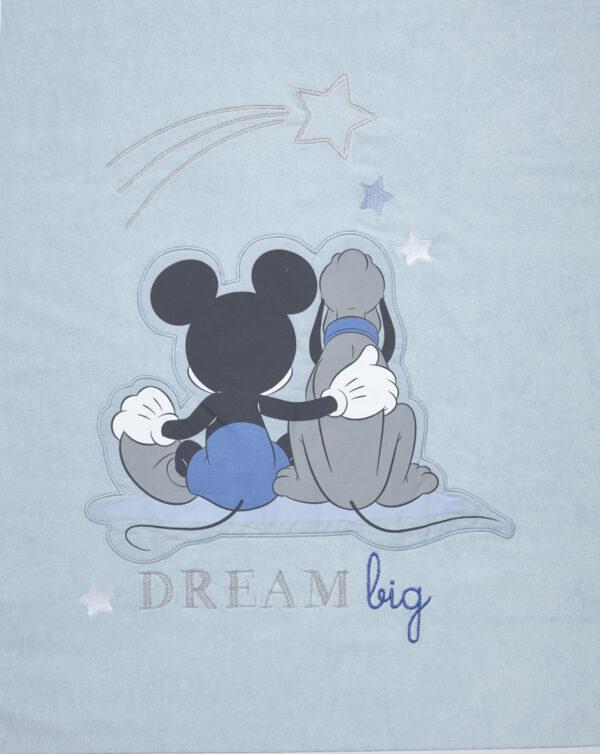 Copertina in ciniglia patch Mickey Mouse - Prénatal