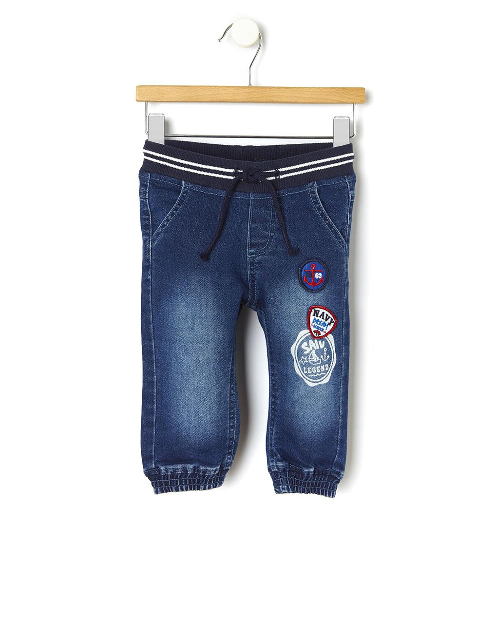 Pantalone denim con patch - Prénatal