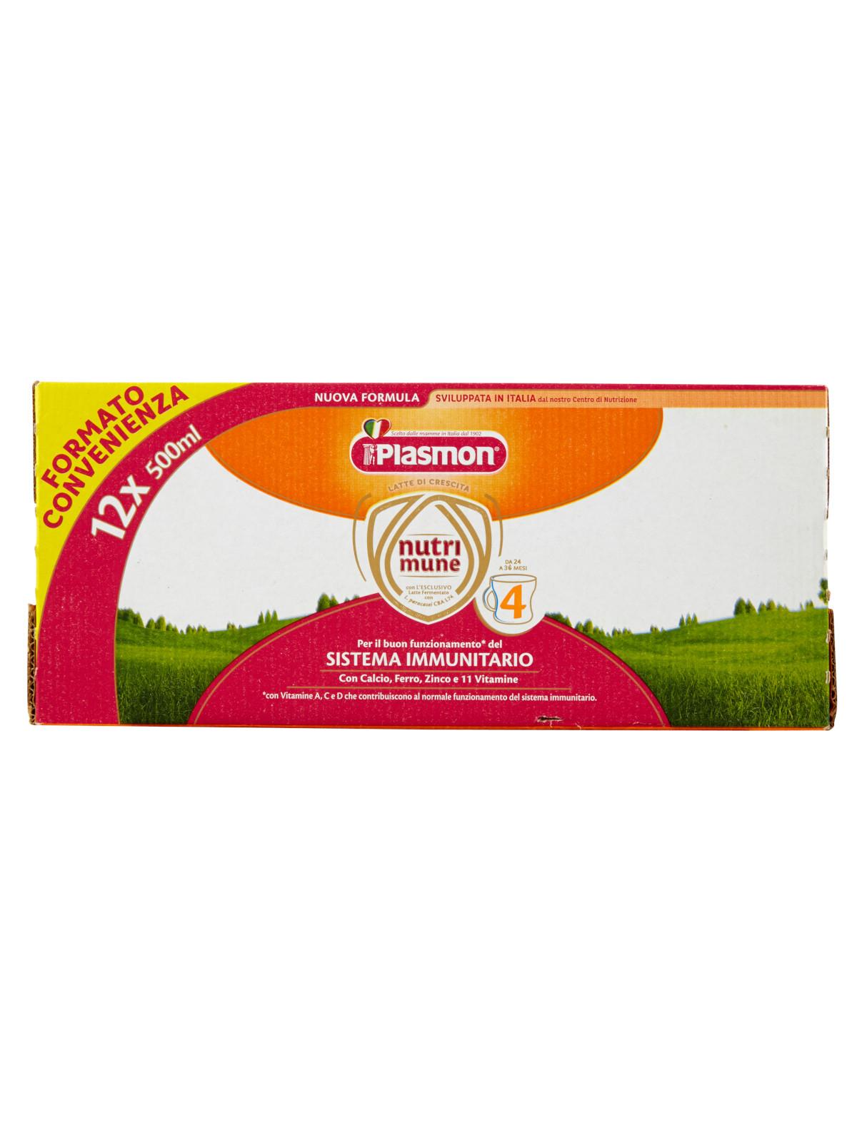 Plasmon nutri-mune 4 latte liquido stage 4 - 12x500ml - Plasmon