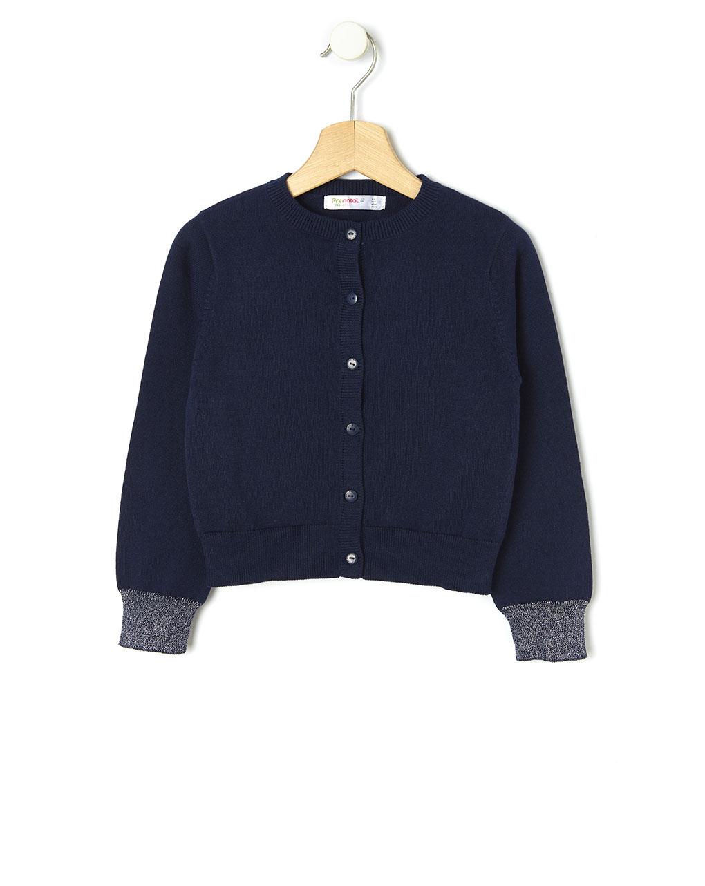 Cardigan tricot con inserti in lurex - Prénatal
