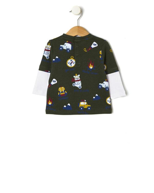 T-shirt manica lunga con stampa allover - Prénatal