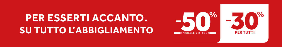 banner promozionale ABBIGLIAMENTO