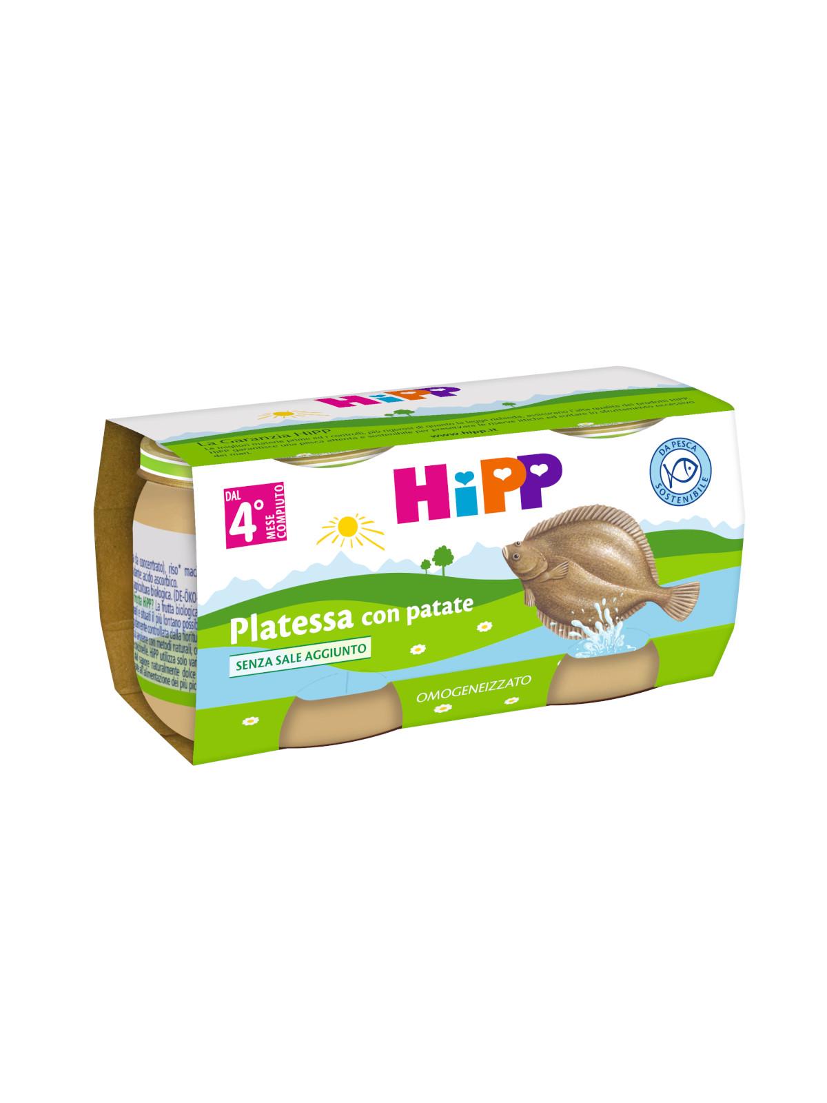 Omogeneizzato platessa con patate 2x80g - Hipp