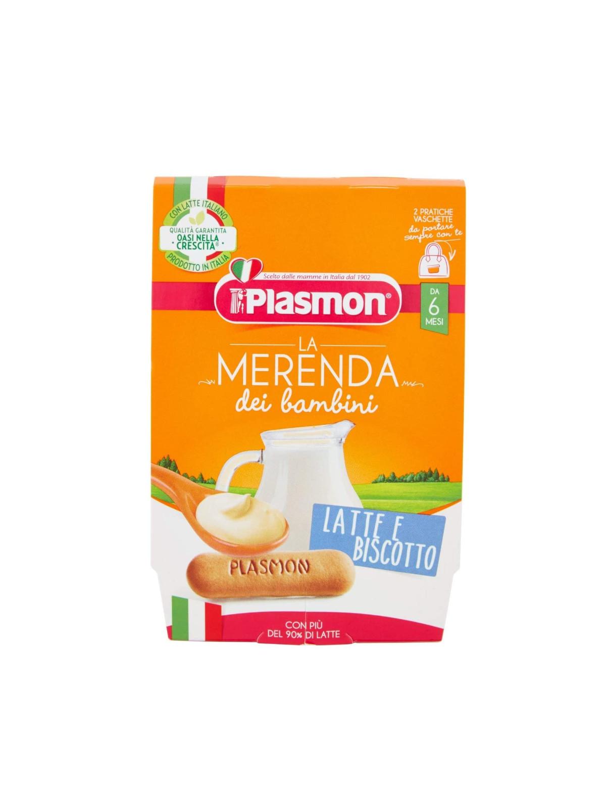 Plasmon - merenda latte biscotto - 2x120g - Plasmon