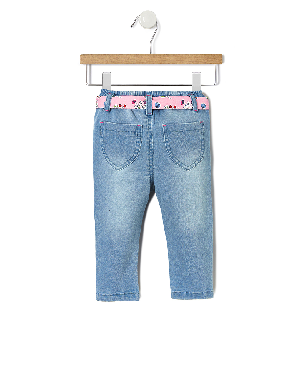 Pantalone denim con ricami floreali - Prénatal