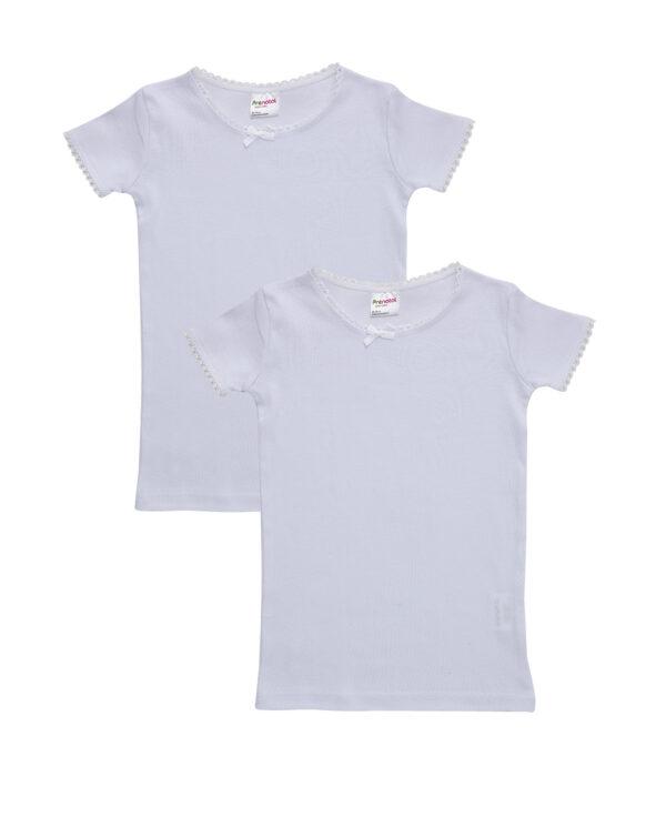 Pack 2 T-shirt manica corta con bordo croquette - Prénatal