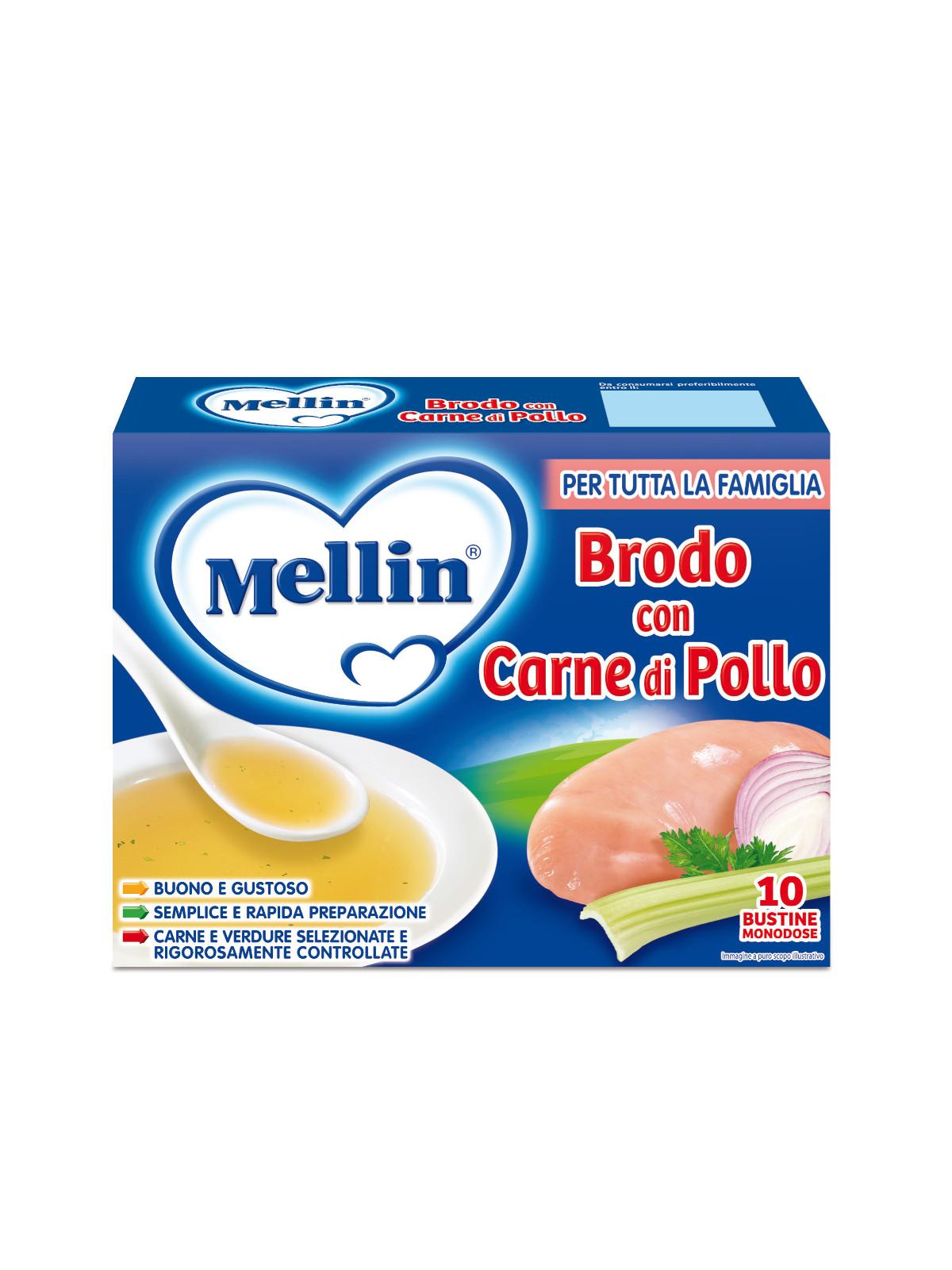 Mellin brodo di pollo 10x5 gr - Mellin