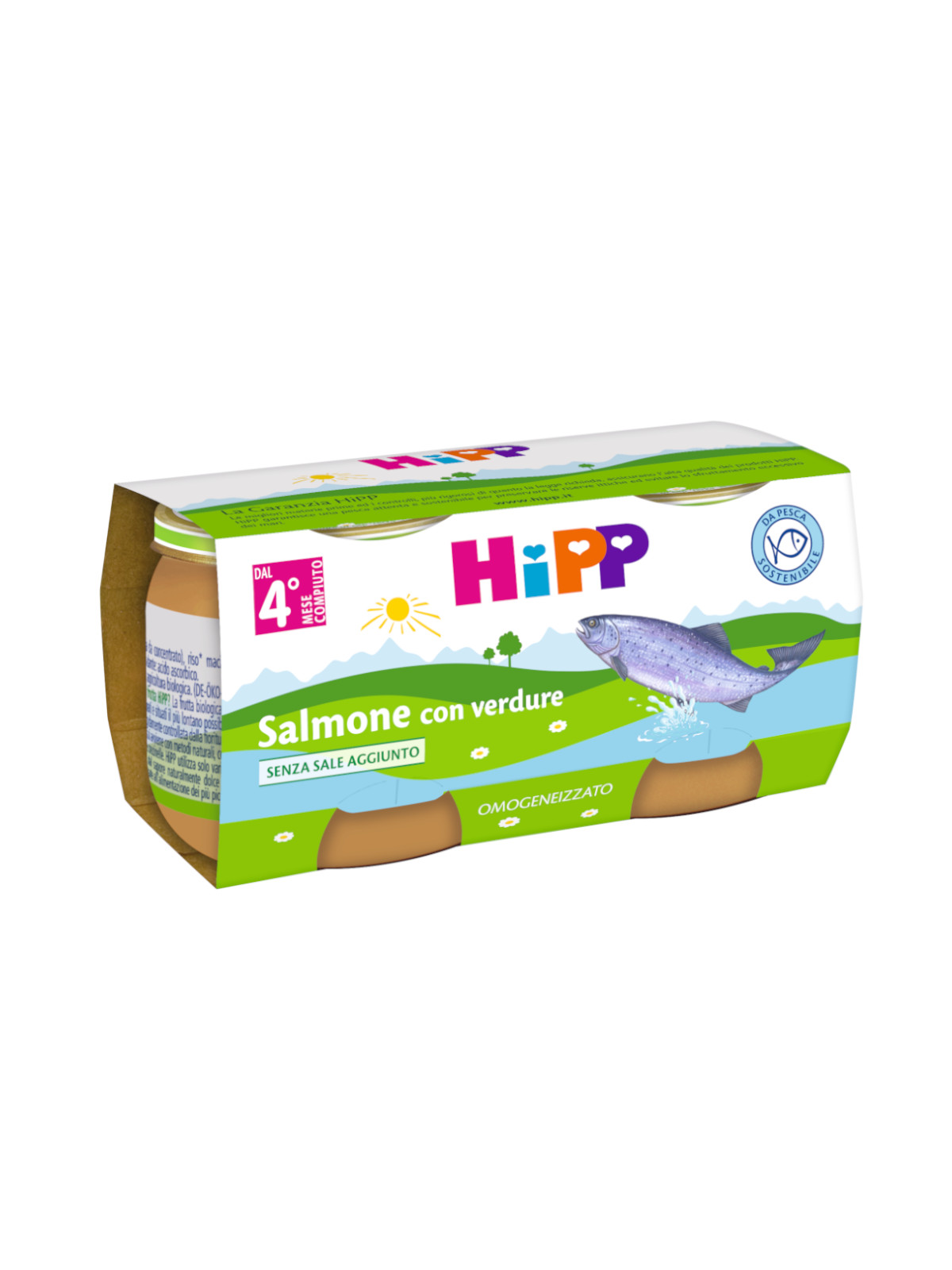 Omogeneizzato salmone con verdure 2x80g - Hipp