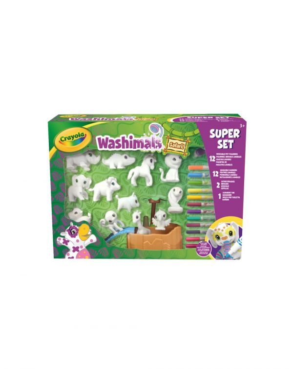 CRAYOLA - WASHIMALS SAFARI – SUPER SET ATTIVITÀ - Crayola