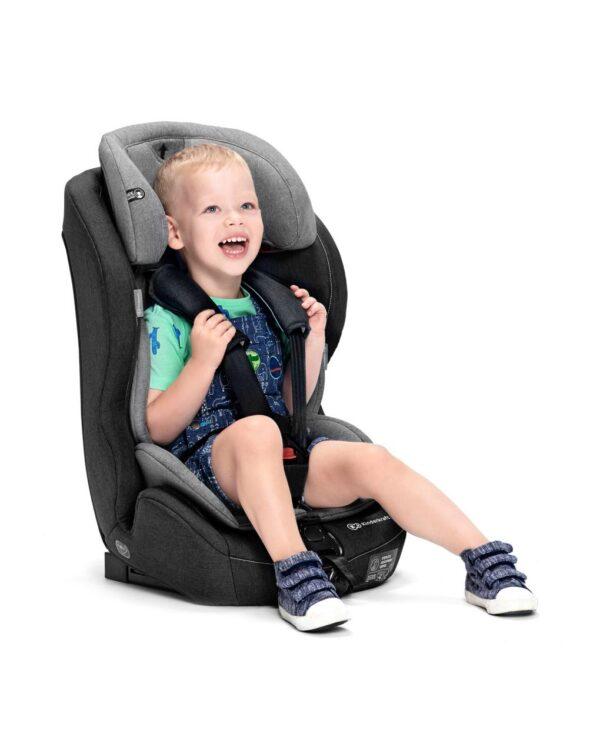 SEGGIOLINO AUTO SAFETY-FIX black/gray - Kinderkraft