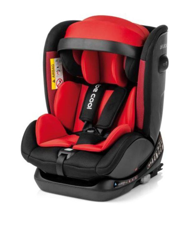 SEGGIOLINO AUTO ALL ABOARD 0-36 KG ISOFIX LAVA STONE (RED) - Be Cool