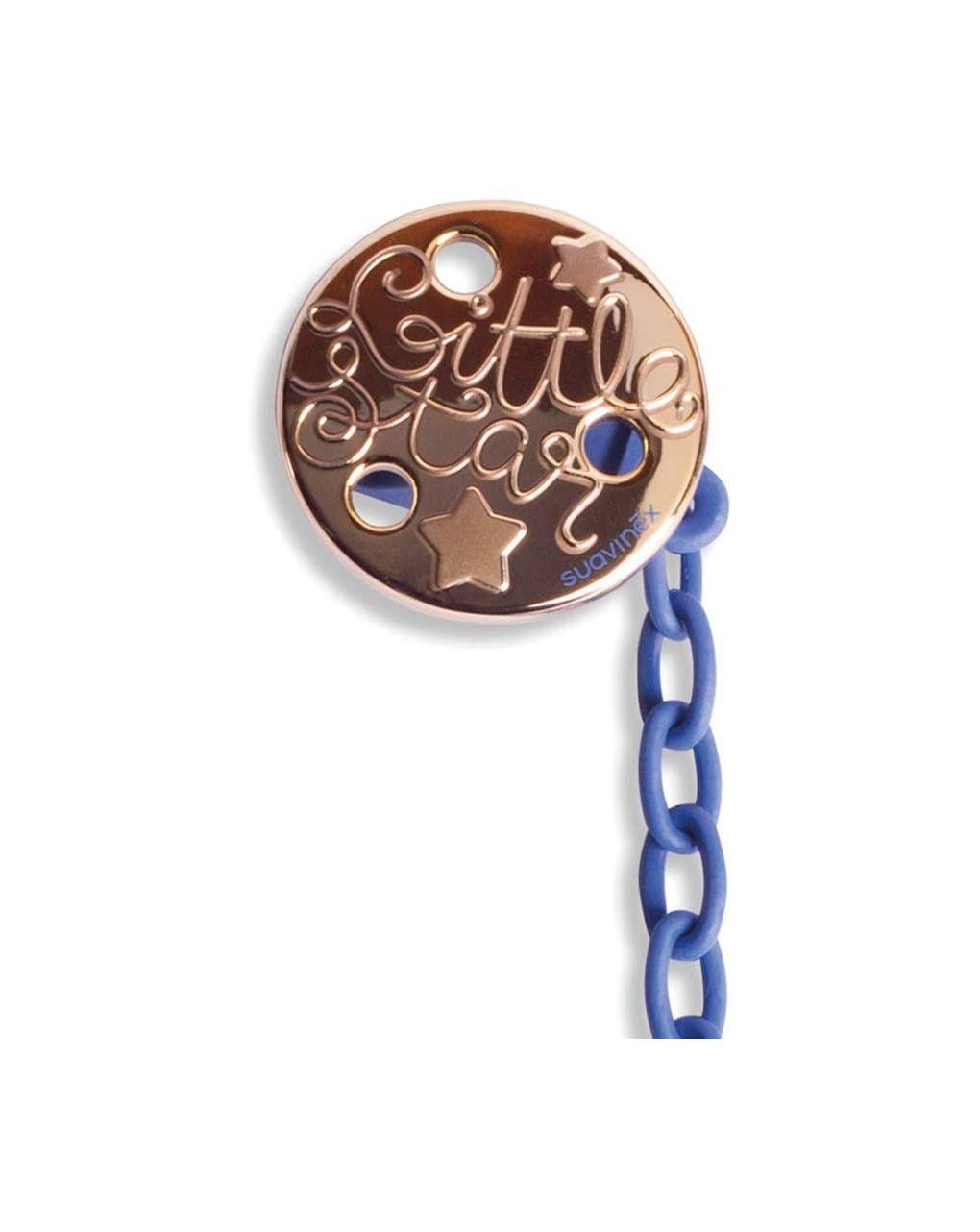 Clip premium rotonda stella azzurro scuro - Suavinex