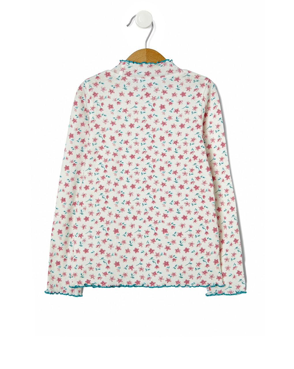 T-shirt costina con stampa fiori - Prénatal