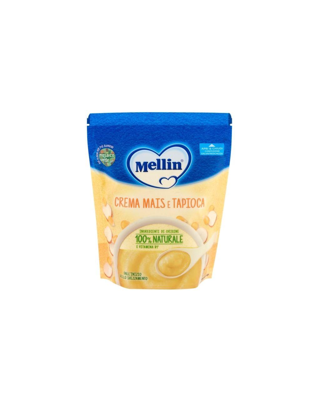 Crema mais e tapioca 200g - Mellin