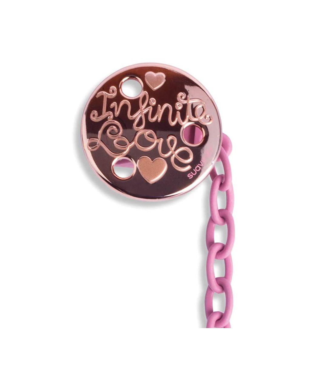 Clip premium rotonda love rosa - Suavinex