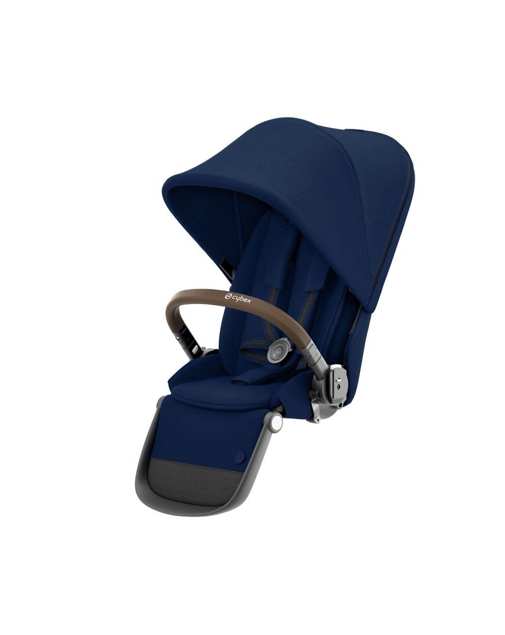 Seduta aggiuntiva per passegginogazelle s con telaiotaupe e maniglione in ecopellemarrone - Cybex