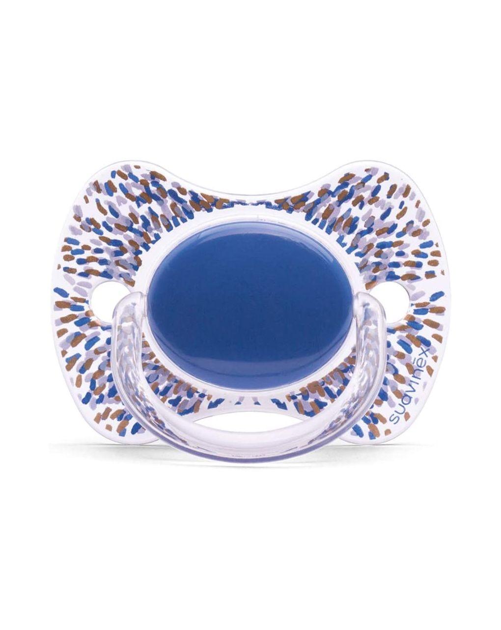 Succhietto premium con tettarella fisiologica 4-18 mesi azzurro scuro - Suavinex