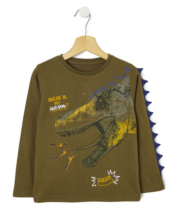 T-shirt con maxi stampa dinosauro - Prénatal