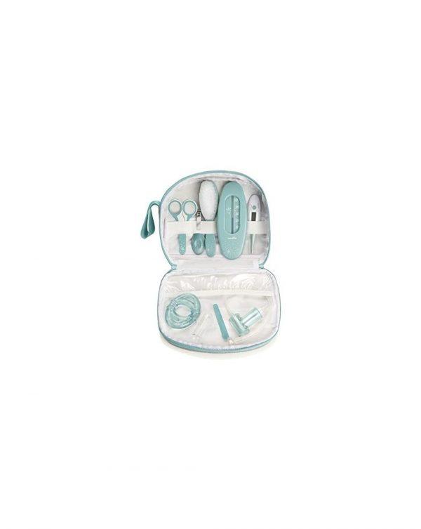 Set per l'Igiene e Cura del Bambino con 9 Accessories- verde acqua - Babymoov