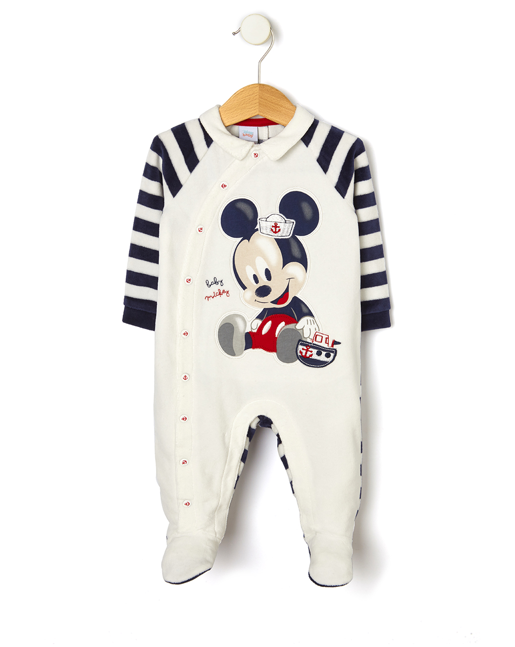 Tutina in ciniglia con patch mickey mouse - Prénatal