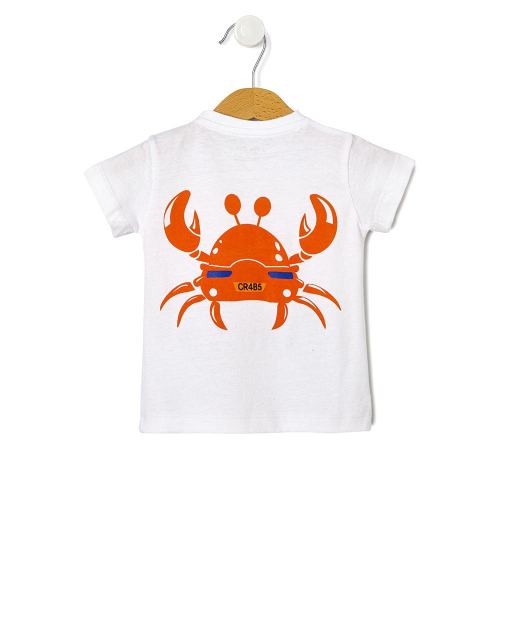 T-shirt con stampa granchio - Prénatal