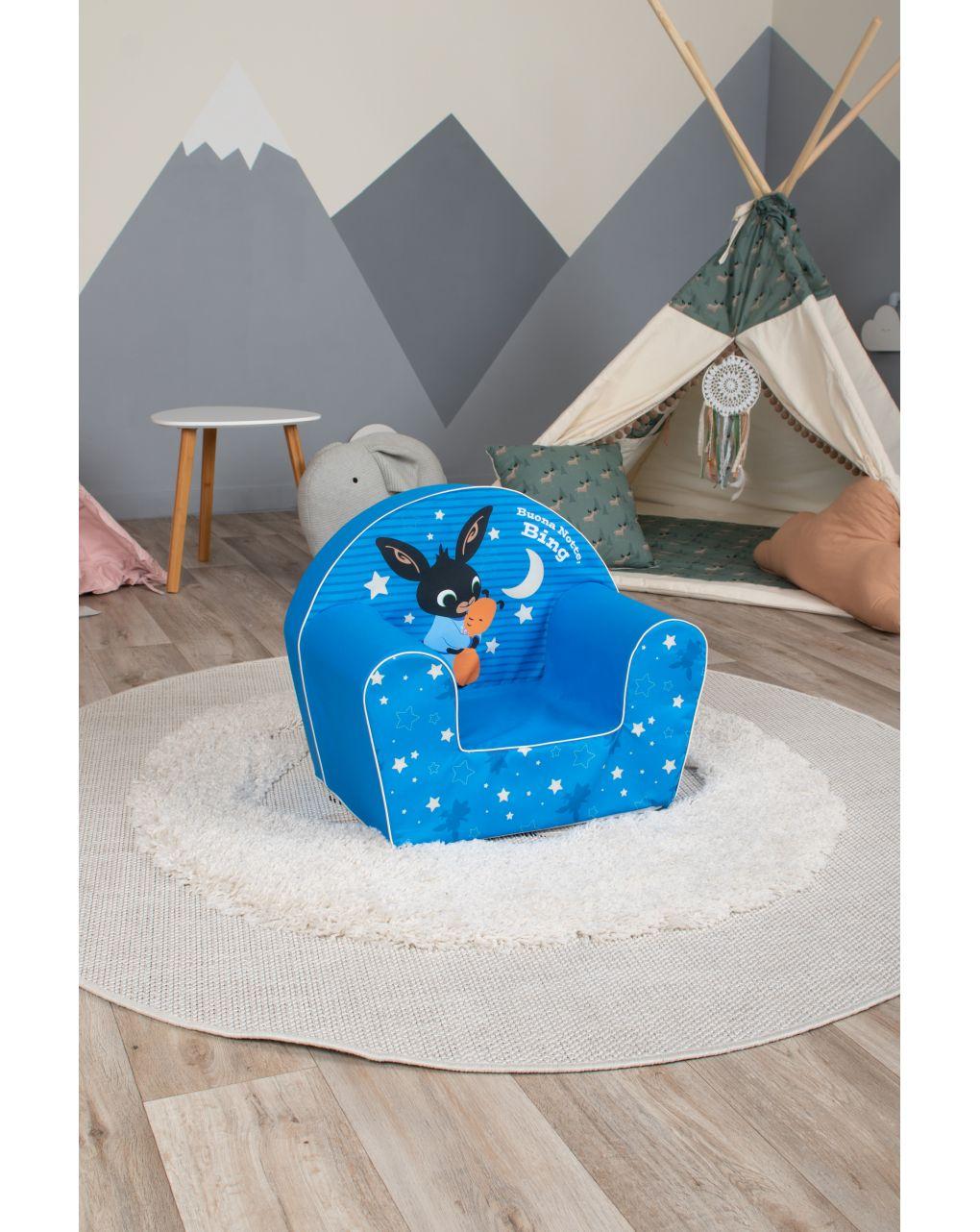 Poltroncina blu di bing - Bing