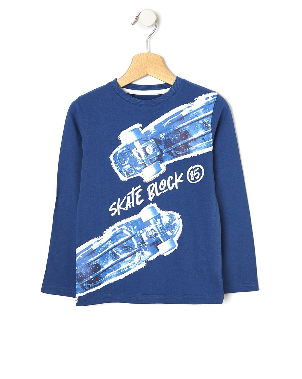 T-shirt con maxi stampa skateboard - Prénatal