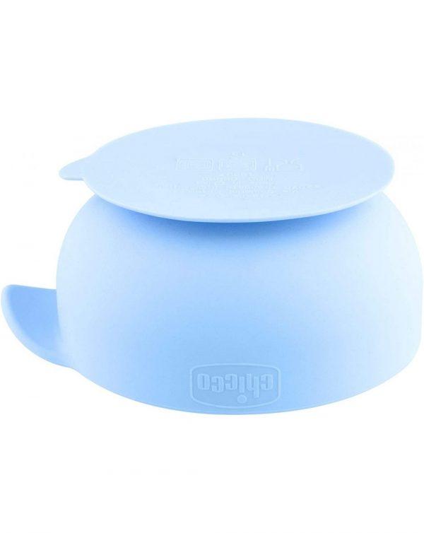 Ciotola Silicone Con Ventosa 6m+ Azzurra - Chicco