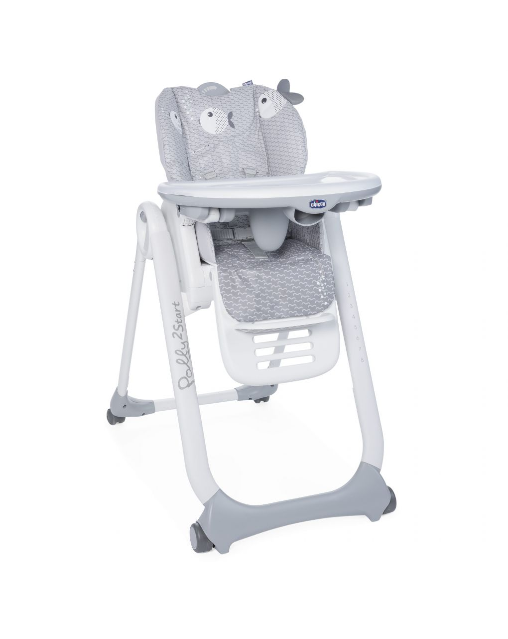Seggiolone polly 2 start dots grey -4r - Chicco
