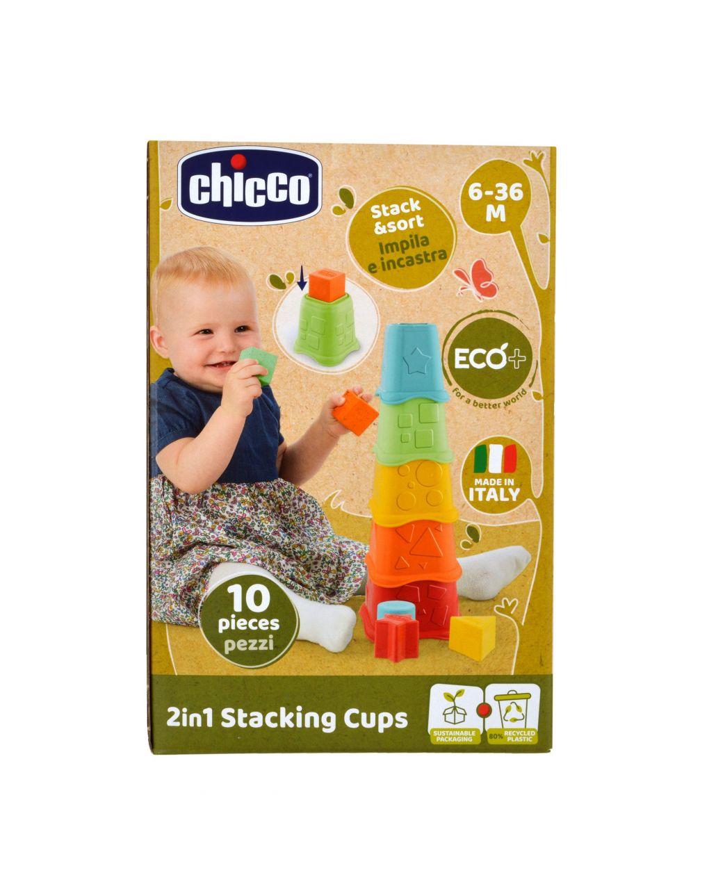 Chicco - tazze impilabili 2in1 eco+ - Chicco